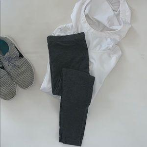 Merona cotton leggings in charcoal gray